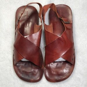Kenneth Cole NY leather Grecian sandals w …